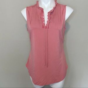 NWT New York & Co. Pink Tank Blouse